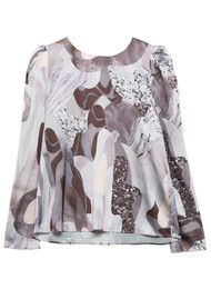 Twist and Tango Allison Blouse - Beige Marble