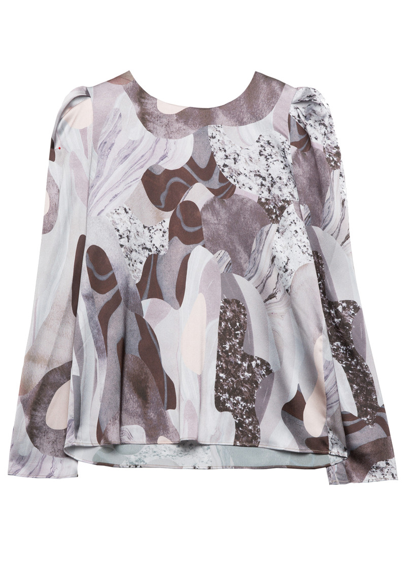Twist and Tango Allison Blouse - Beige Marble main image