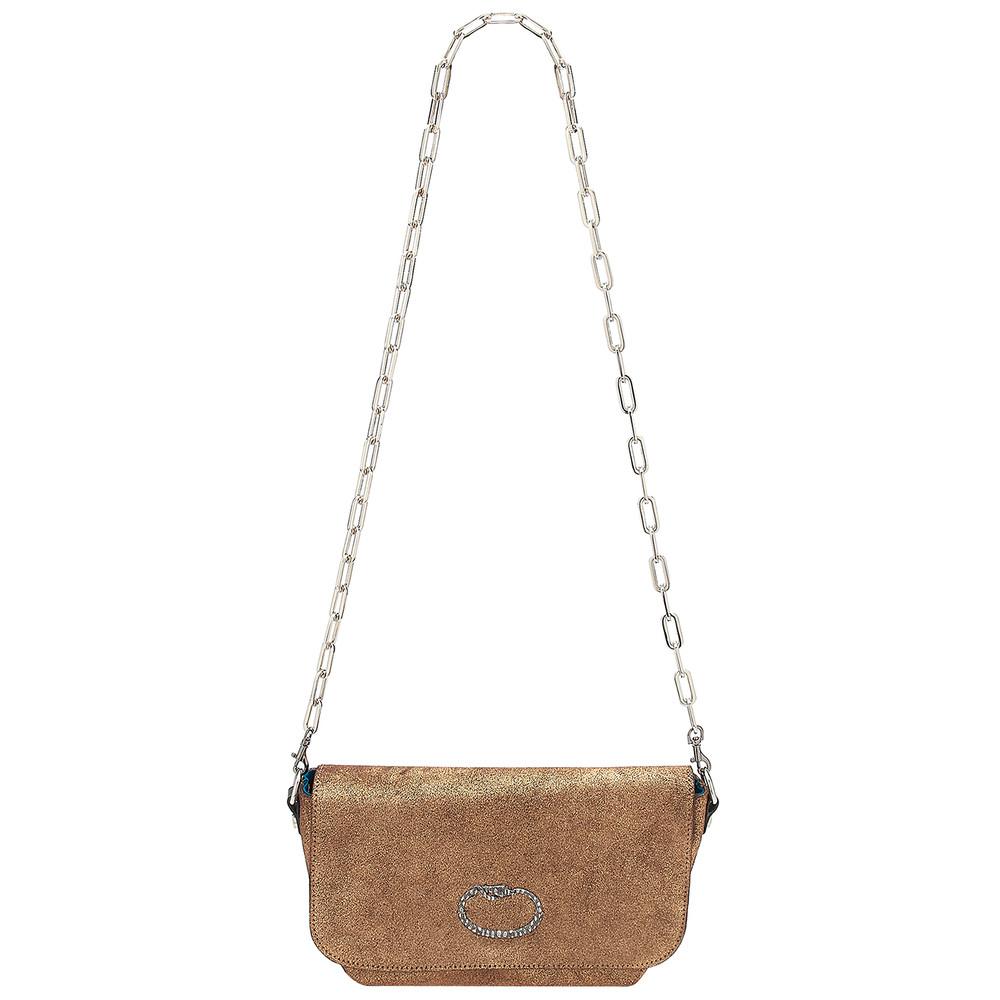 Mai Tai Leather Snake Handbag - Copper