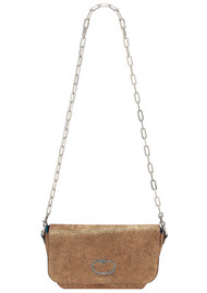 Sous Les Paves Mai Tai Leather Snake Handbag - Copper