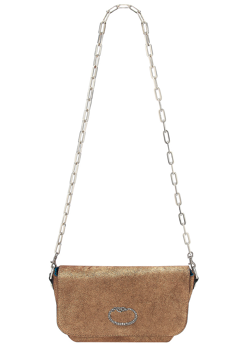 Sous Les Paves Mai Tai Leather Snake Handbag - Copper main image