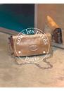 Sous Les Paves Mai Tai Leather Snake Handbag - Copper