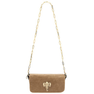Mai Tai Leather Elephant Handbag - Honey