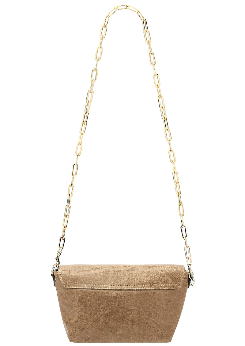 Sous Les Paves Mai Tai Leather Elephant Handbag - Honey main image