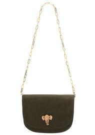 Sous Les Paves Coachella Leather Elephant Bag - Khaki