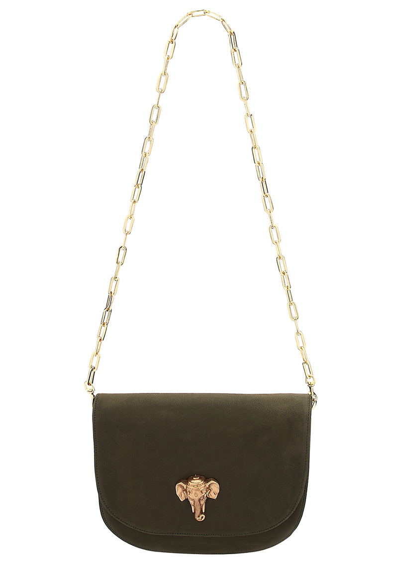 Sous Les Paves Coachella Leather Elephant Bag - Khaki main image