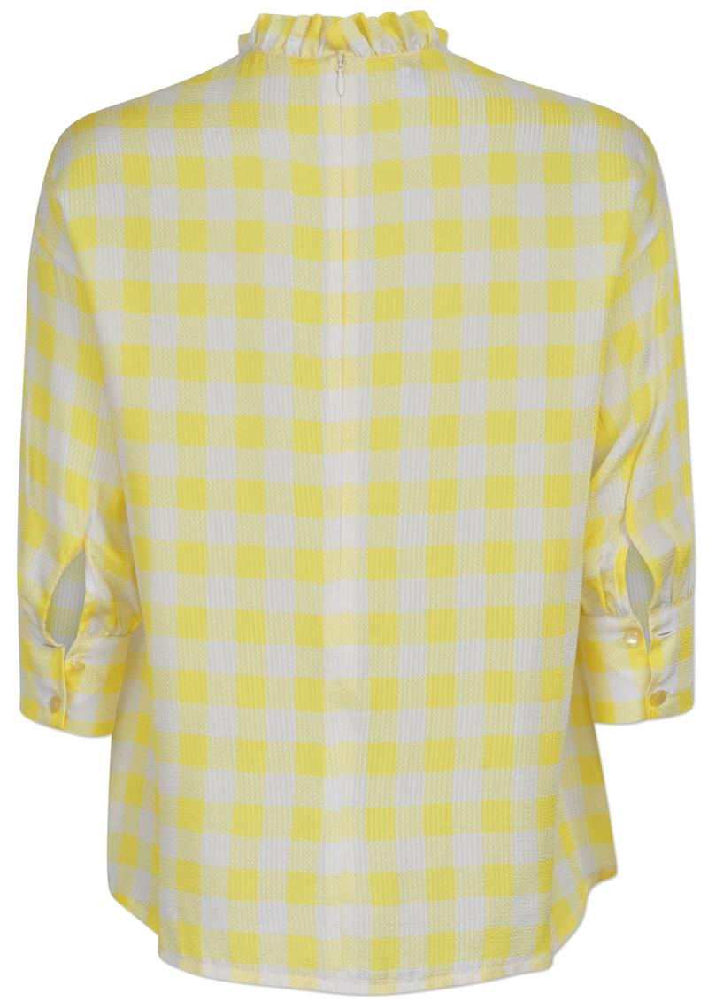 BAUM UND PFERDGARTEN Mere Top - Creamy Lemon Check main image