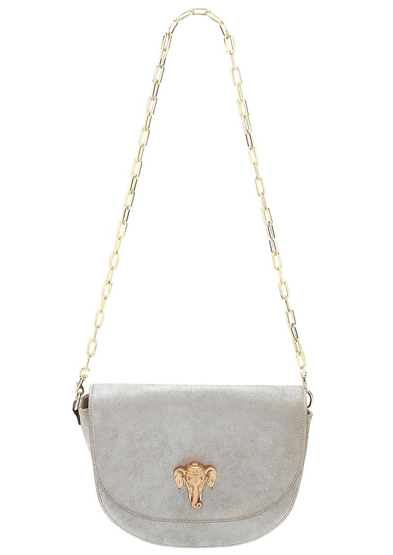Sous Les Paves Coachella Leather Elephant Bag - Silver main image