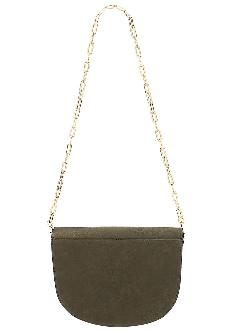 Coachella Leather Elephant Bag - Khaki main image