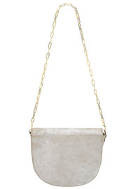 Sous Les Paves Coachella Leather Elephant Bag - Silver
