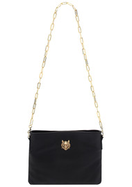 Sous Les Paves Small Zaza Leather Bag - Black
