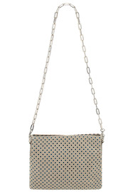 Sous Les Paves Small Zaza Leather Bag - Chalk