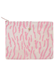 Sous Les Paves Sunrise Suede Textured Clutch Bag - Zebra