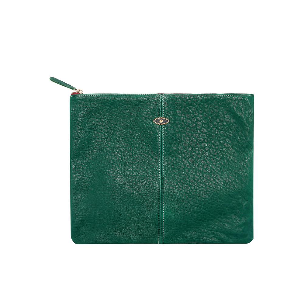 Sunrise Leather Venus Eye Clutch Bag - Eraude