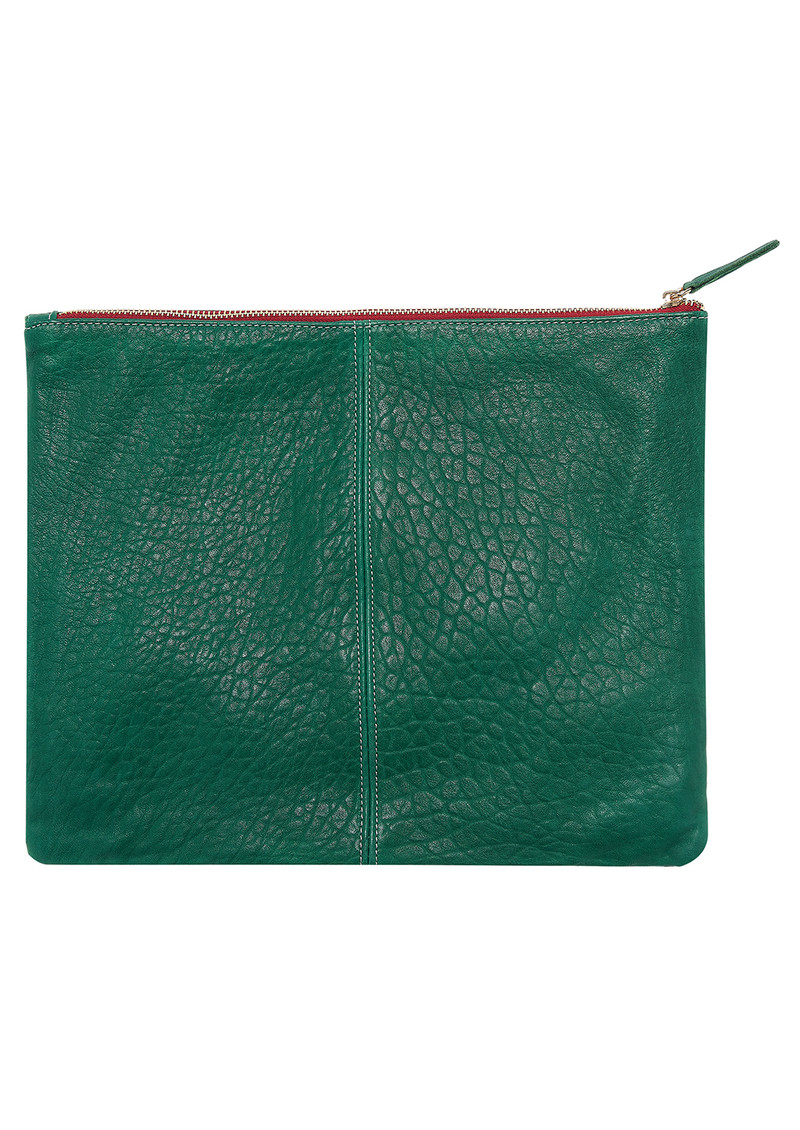 Sous Les Paves Sunrise Leather Venus Eye Clutch Bag - Eraude main image