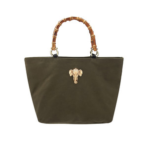 Honeymoon Leather Elephant Bag - Khaki