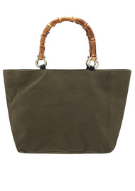 Sous Les Paves Honeymoon Leather Elephant Bag - Khaki