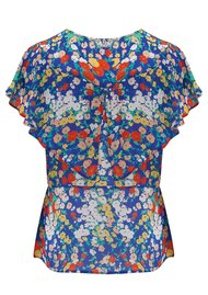 Lily and Lionel Exclusive Anna Top - Blue Floral