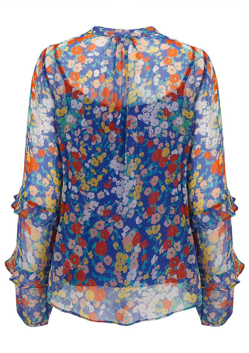 Lily and Lionel Exclusive Rina Top - Blue Floral main image
