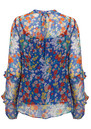 Exclusive Rina Top - Blue Floral additional image