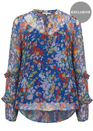 Exclusive Rina Top - Blue Floral