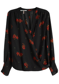 Maison Scotch Wrap Front Blouse - Combo F