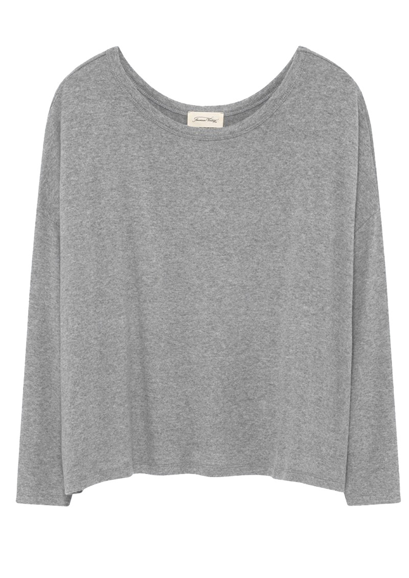 American Vintage Vetington Long Sleeve Top - Heather Grey  main image