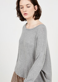 American Vintage Vetington Long Sleeve Top - Heather Grey