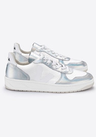 VEJA V-10 Leather Mesh Trainers - Arctic Unicorn