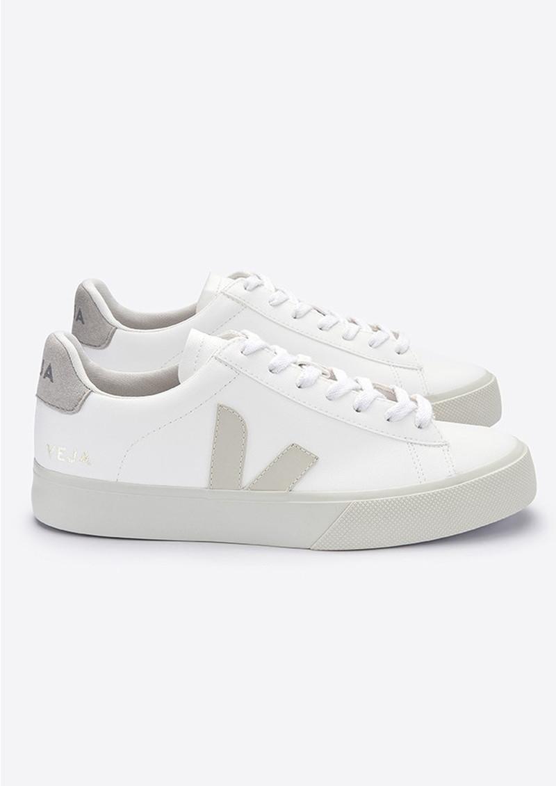 portugués Antídoto tela  VEJA Campo Vegan Leather Trainers - White Pierre Natural