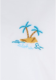 MAISON LABICHE Aloha Island Tee - White