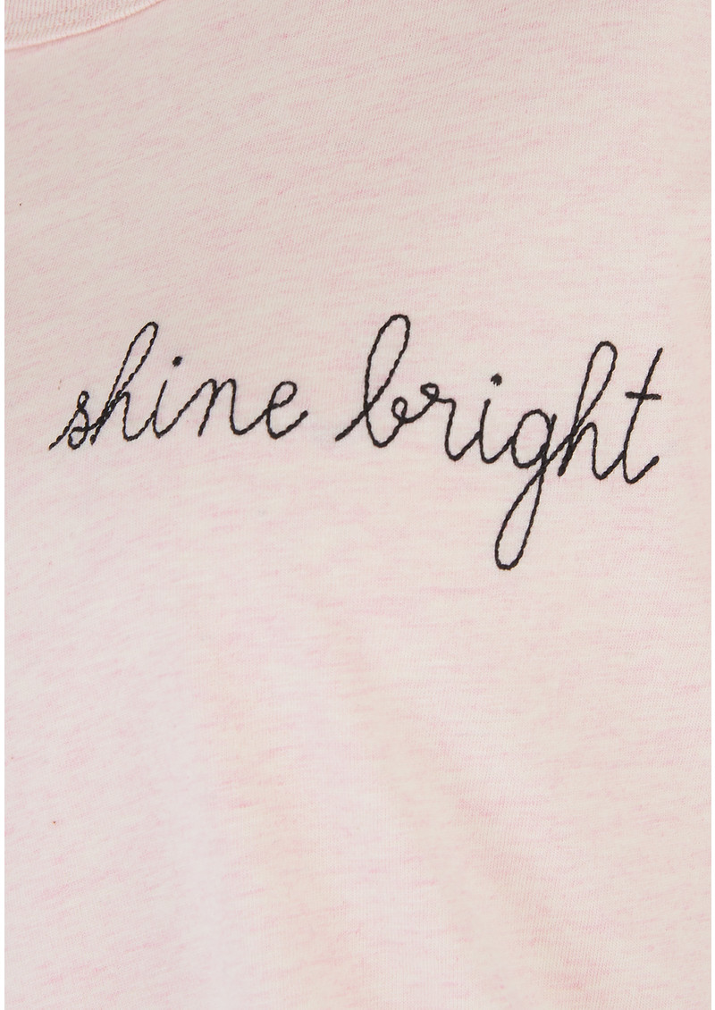 MAISON LABICHE Shine Bright Tee - Heather Pink main image