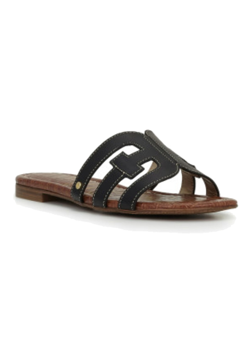 Bay Leather Slide Sandals - Black main image