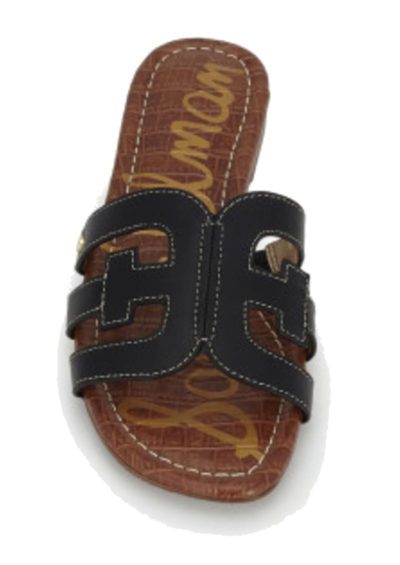 Sam Edelman Bay Leather Slide Sandals - Black main image