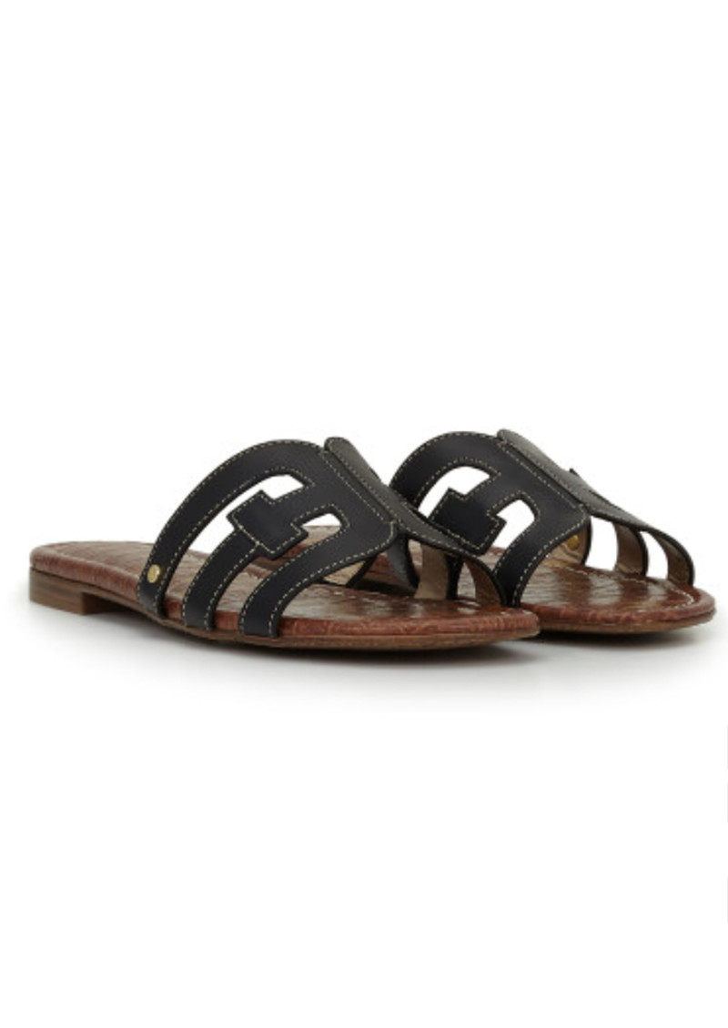 Sam Edelman Bay Leather Slide Sandals - Black main image