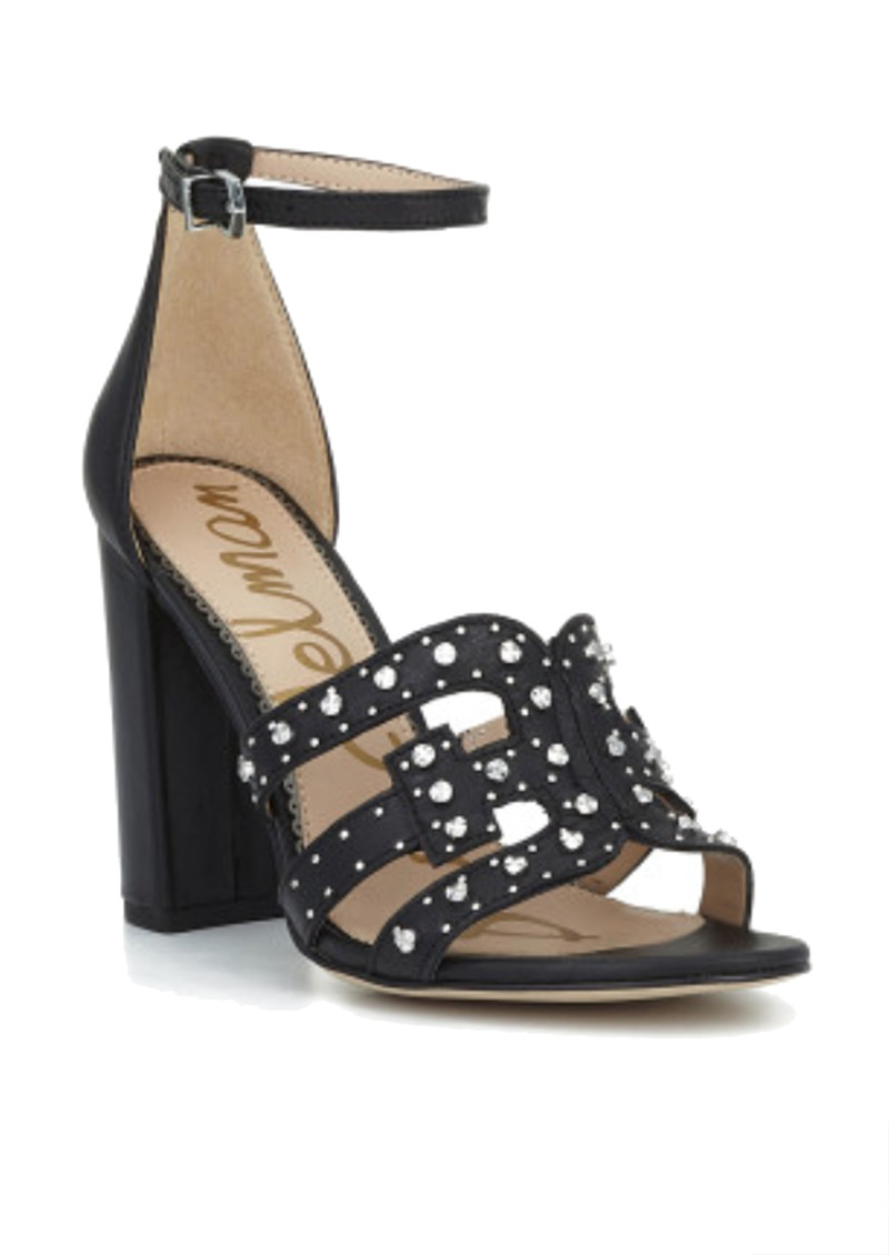 Sam Edelman Yasha Studded Block Heel Sandal - Black main image