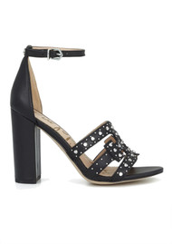 Sam Edelman Yasha Studded Block Heel Sandal - Black