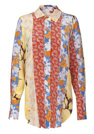 STINE GOYA Virgo Silk Shirt - Floral Wallpaper