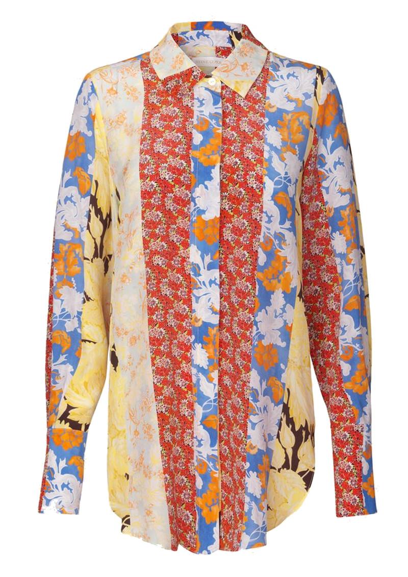 STINE GOYA Virgo Silk Shirt - Floral Wallpaper main image