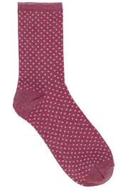 Becksondergaard Dina Small Dots Socks - Raspberry Rose