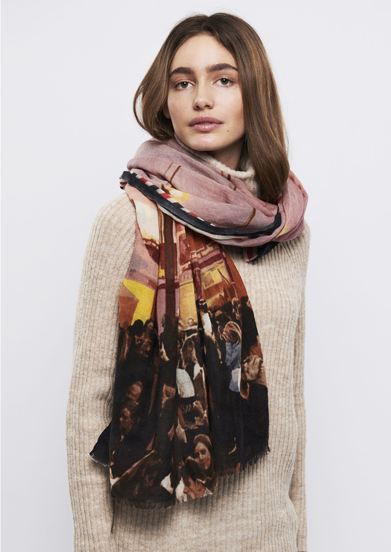 Cecilie Wool Scarf - Multi main image
