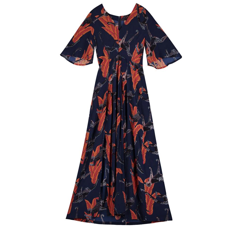 Dahliah Maxi Silk Dress - Chimp
