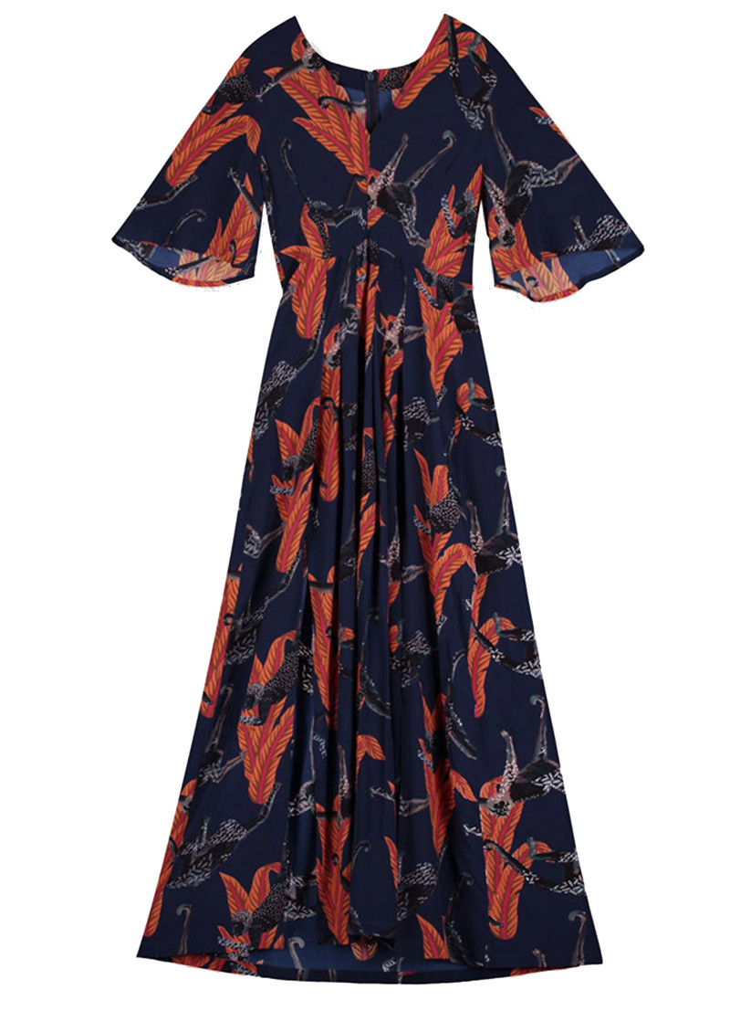 Pyrus Dahliah Maxi Silk Dress - Chimp main image