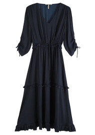 Maison Scotch Ruffled Midi Dress - Night