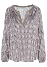 DEA KUDIBAL Amalie Exclusive Silk Tunic - Bee Taupe