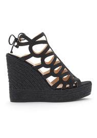 KANNA Sofia Cut Out Wedge - Black