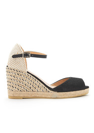 KANNA Siena Chainti Wedge Espadrille- Black
