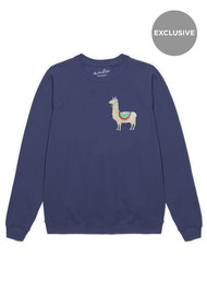 ON THE RISE Exclusive Llama Jumper - Navy