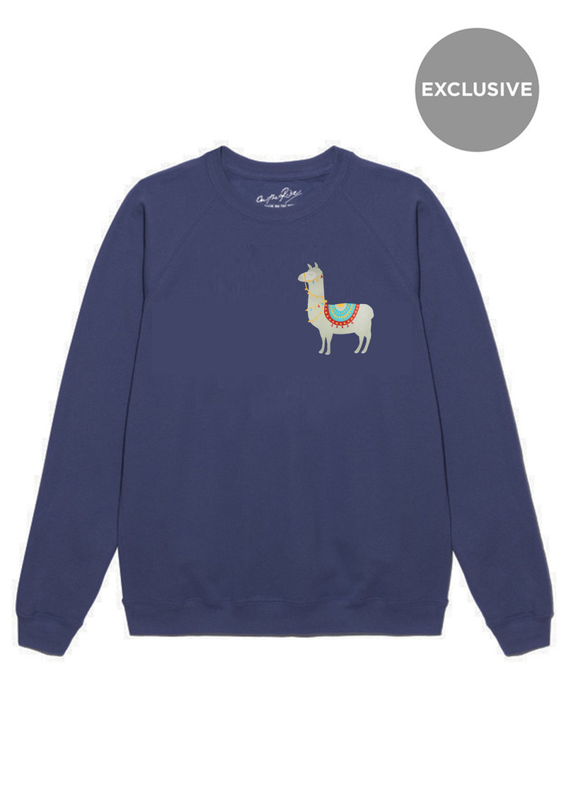 ON THE RISE Exclusive Llama Jumper - Navy main image