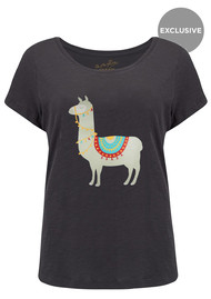 ON THE RISE Exclusive Llama Tee - Black
